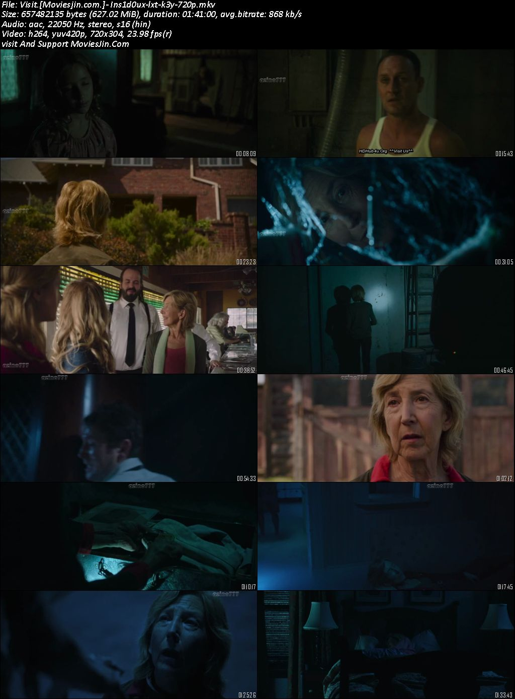 Insidious Last Key 2018 300MB Hindi Dubbed x264 480p