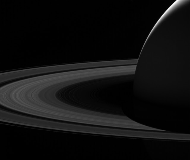 Goodbye to the dark side of Saturn