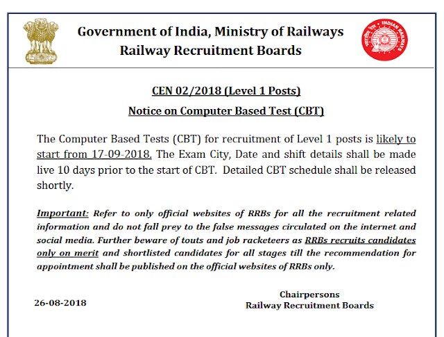 Railway Group D Exams 2018 likely from September 17- Syllabus, paper pattern, other details