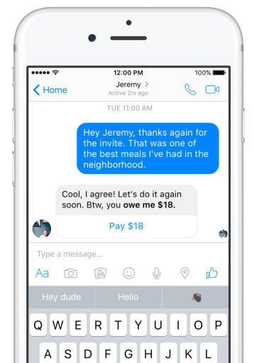 FACEBOOK MESSENGER NOW REMINDS YOUR FRIENDS TO PAY YOU BACK THE MONEY THEY OWE YOU