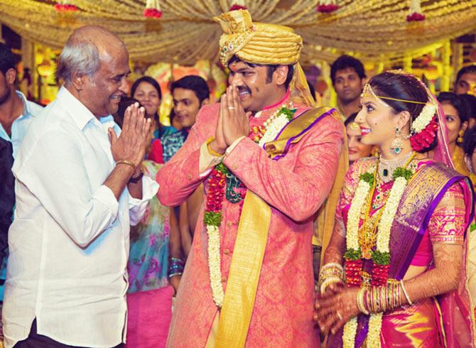 Vishnu Manchu, , Suriya,, Manoj Manchu and Pranathi Reddy Wedding Pics