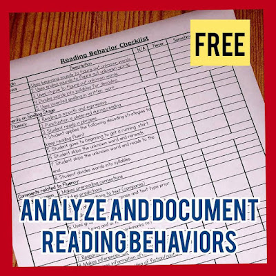 This FREE RESOURCE is a huge help when you're observing students as they read. It can help the classroom teacher in the next steps. Download your copy today.