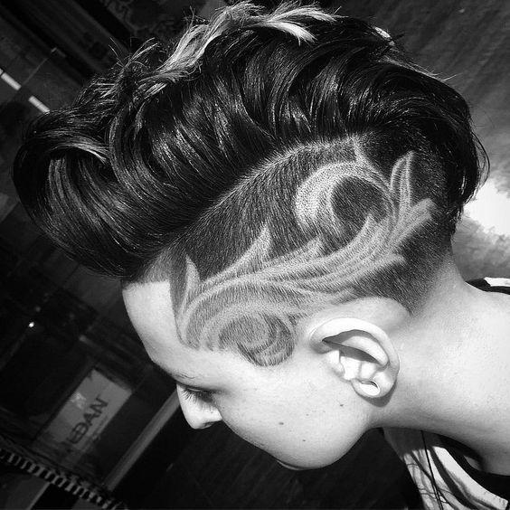 Super Trendy Hair Tattoos The HairCut Web