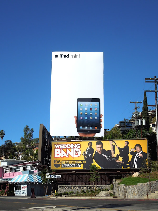 Giant Apple iPad mini billboard Sunset Strip