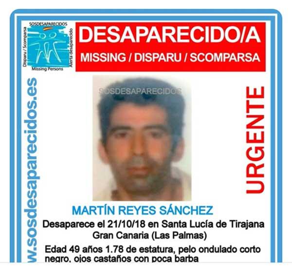 Desaparecido hombre en Santa Lucía de Tirajana, Gran Canaria