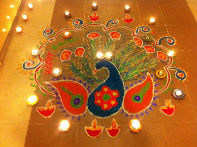 Beautiful Diwali Rangoli Flowers Images Peacock Photos 2016