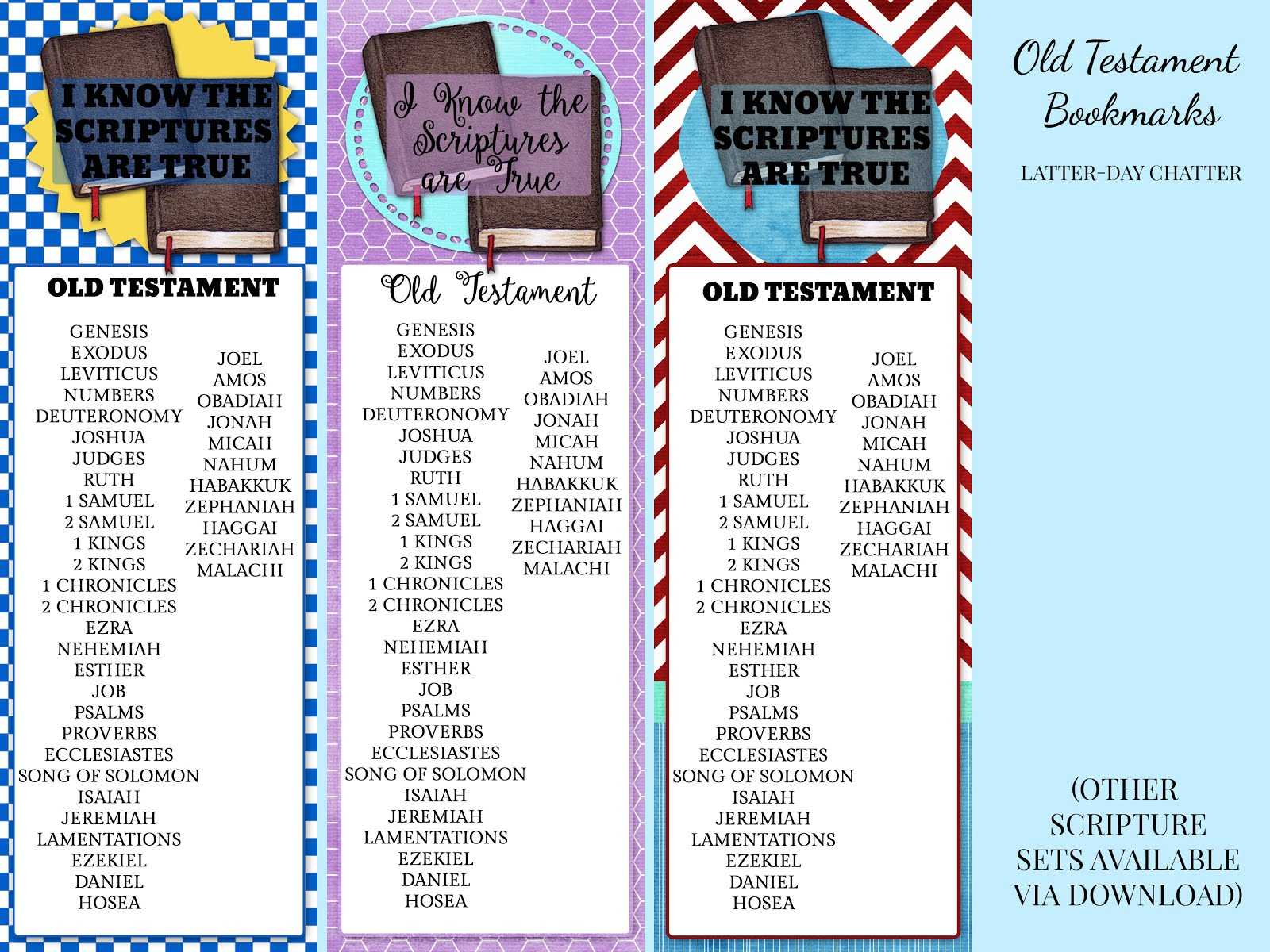 Latter Day Chatter Primary Bookmarks