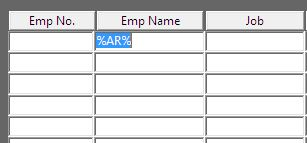 filter name field in enter query mode of oracle forms