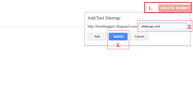 How to submit your blog xml sitemap file