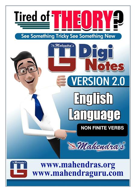 Digi Notes - 2.0  | Non Finite Verbs For IBPS PO Mains  | 03.11.2017