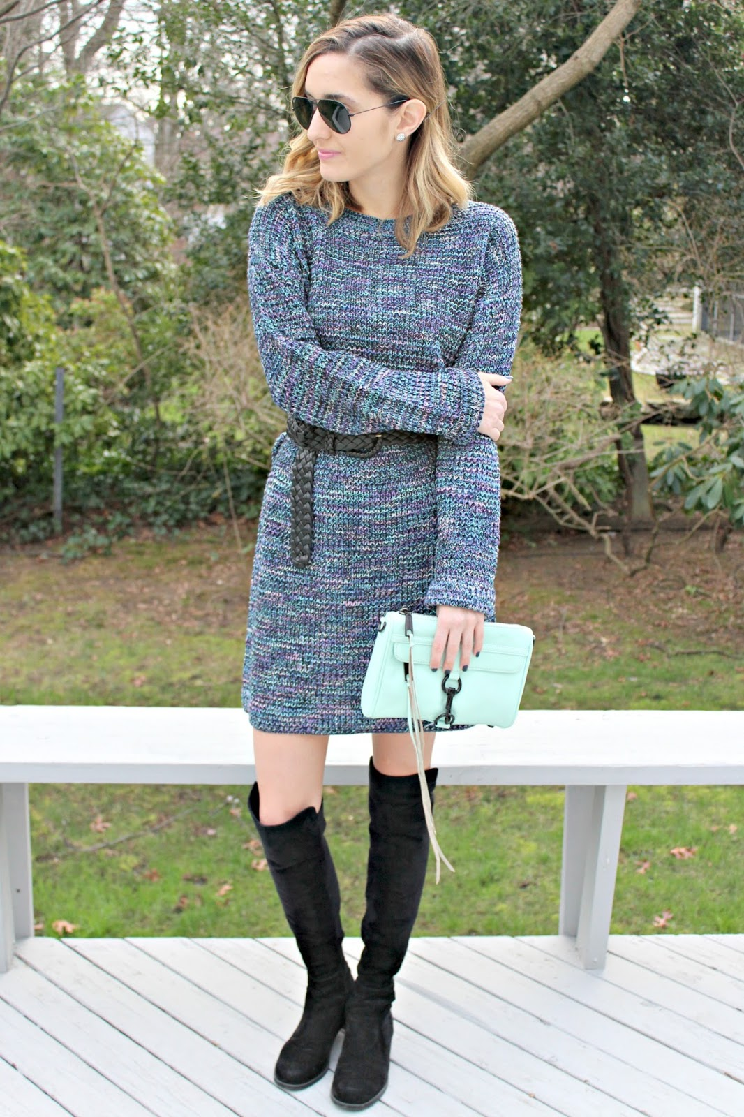 shein colorful sweater dress