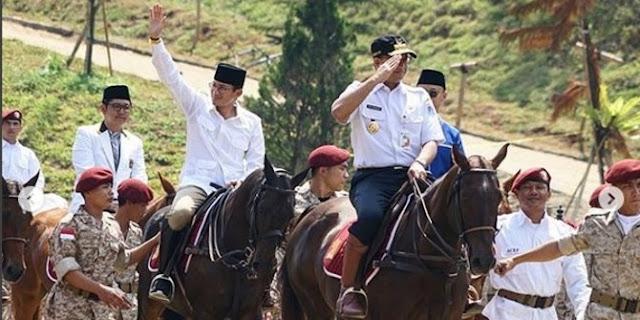 Sandiaga: Pertarungan Prabowo dan Jokowi ibarat David VS Goliath