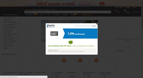 على سبيل المثال نختار المتجر الإلكتروني الصيني الشهير Gearbest . كما تلاحظون فالموقع بالإظافة إلى كونه يمنحك تعويضات عن مشترياتك من الإنترنيت فهو يمنحك أيضا كوبونات شراء متعددة !