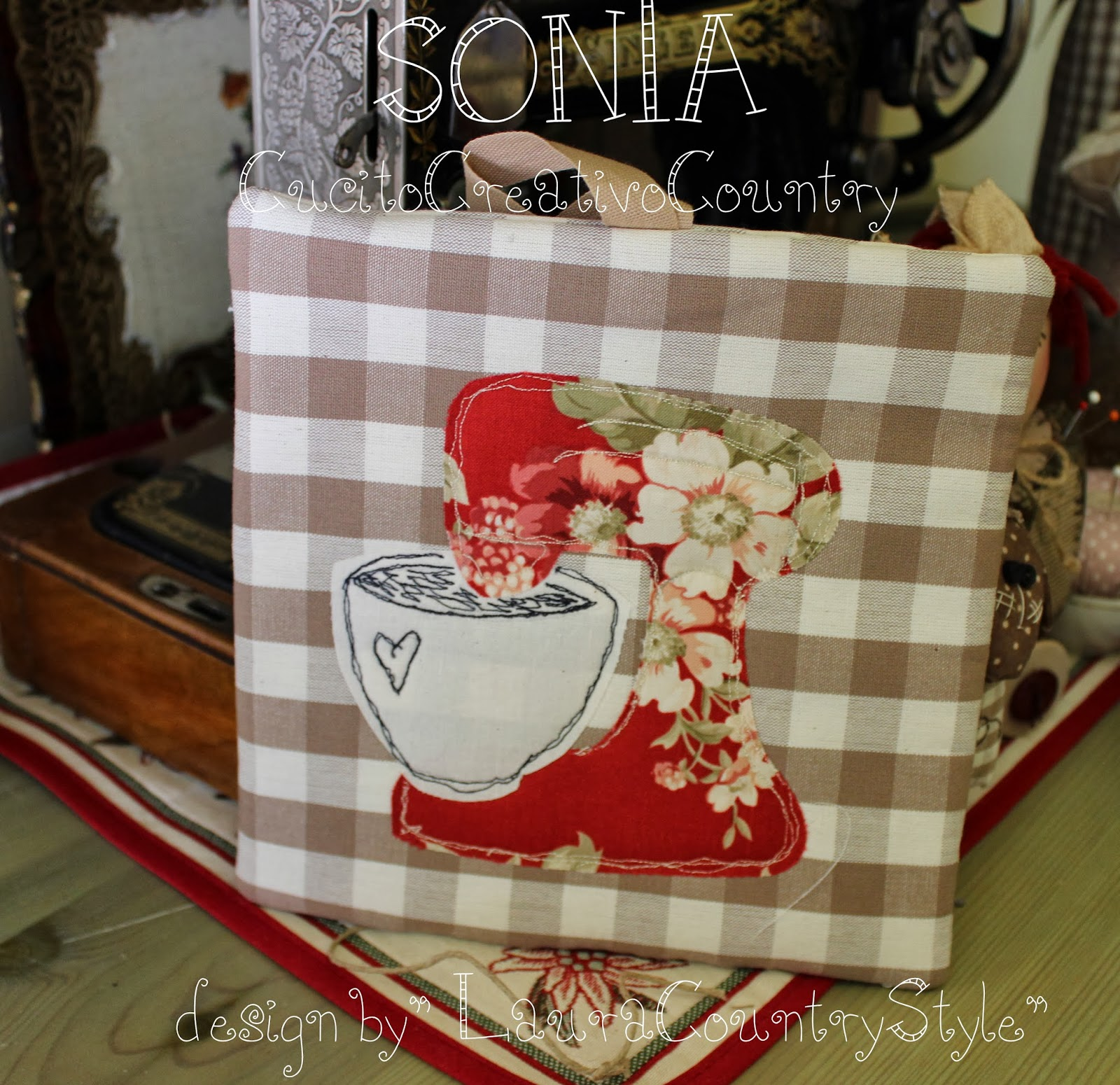 Cucito Country Cucina Sonia Countrypainting E Torta Di Mele Presine Design