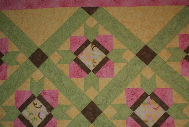 """Quilting Affection Design """"coquette Tulip"""" Quilt"""