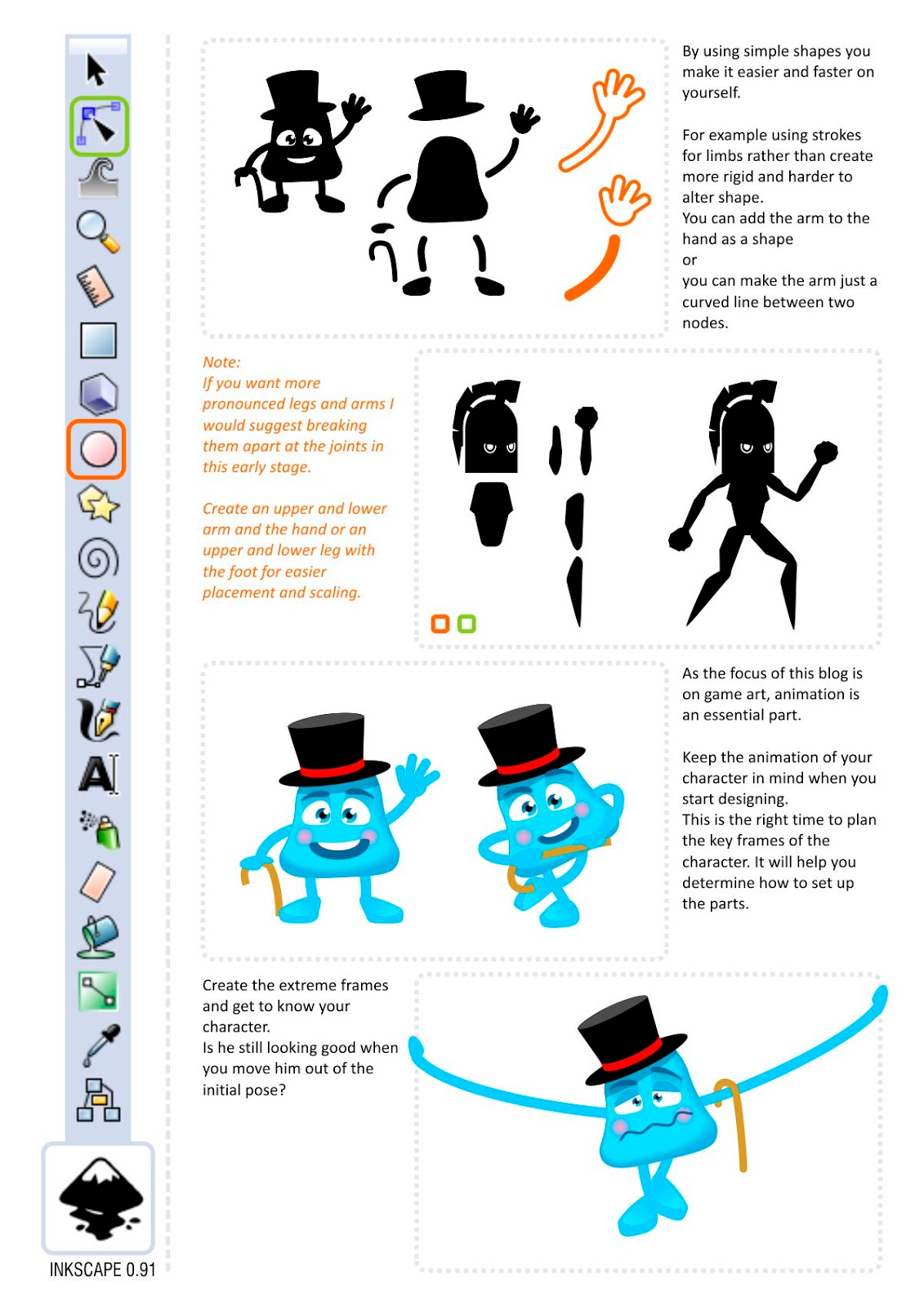 Inkscape Character Design Tutorial : D game art for programmers