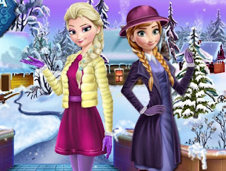 Elsa and Anna Winter Dress Up Awesome Dress Up Frozen Games Online Free Play
