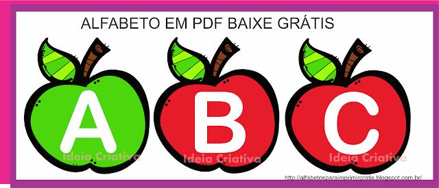 Alfabeto Maçãzinhas em PDF para baixar GRÁTIS