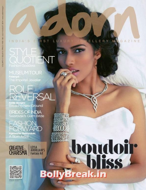 Model Pooja Mor, August 2014 Indian Magazine Covers