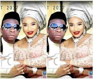 Viral Photo of Tonto Dikeh and Speed Darlington wedding