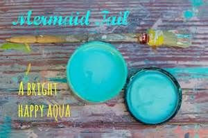 DIY Mermaid Tail Paint A Bright Happy Aqua