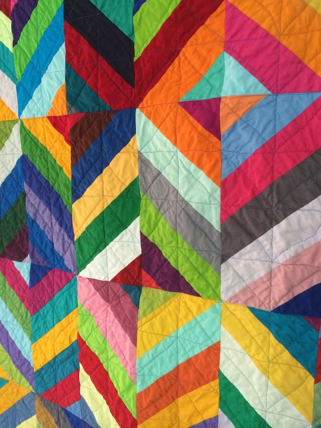 rainbow solid quilt