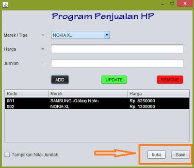 jadi - Tutorial Java - Membuat Fitur Open/Save Menggunakan BufferedWriter dan BufferedReader