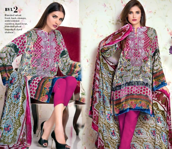 9710092f0f Gul Ahmed Winter Vol-2 Collection 2016-2017 Catalog / Magazine | She ...