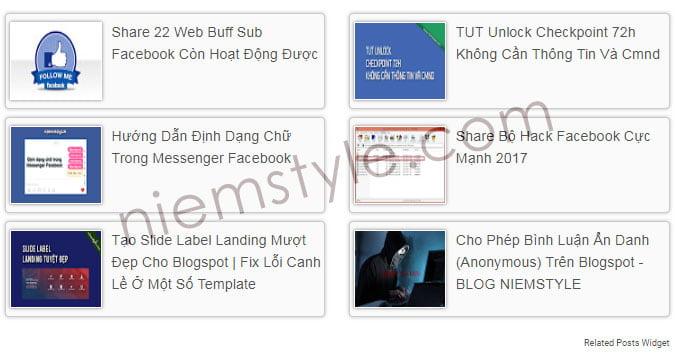 [Series Share] Widget Related Posts dưới mỗi bài viết blogspot
