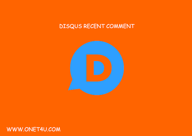 Cara Memasang Recent Comments Disqus di Blogger