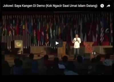 """[VIDIO] Jokowi Pernah Bilang : """" Saya Kangen di demo,Jika Didemo Pasti Saya Suruh Masuk"""""""