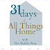 31 Days:  All Things Home~