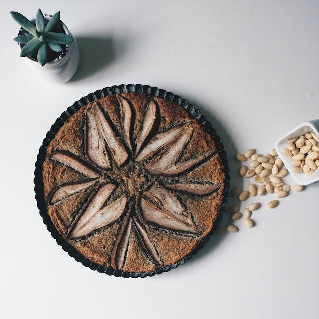 bolo de amêndoas vegano