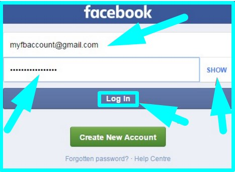 facebook login mobile site url