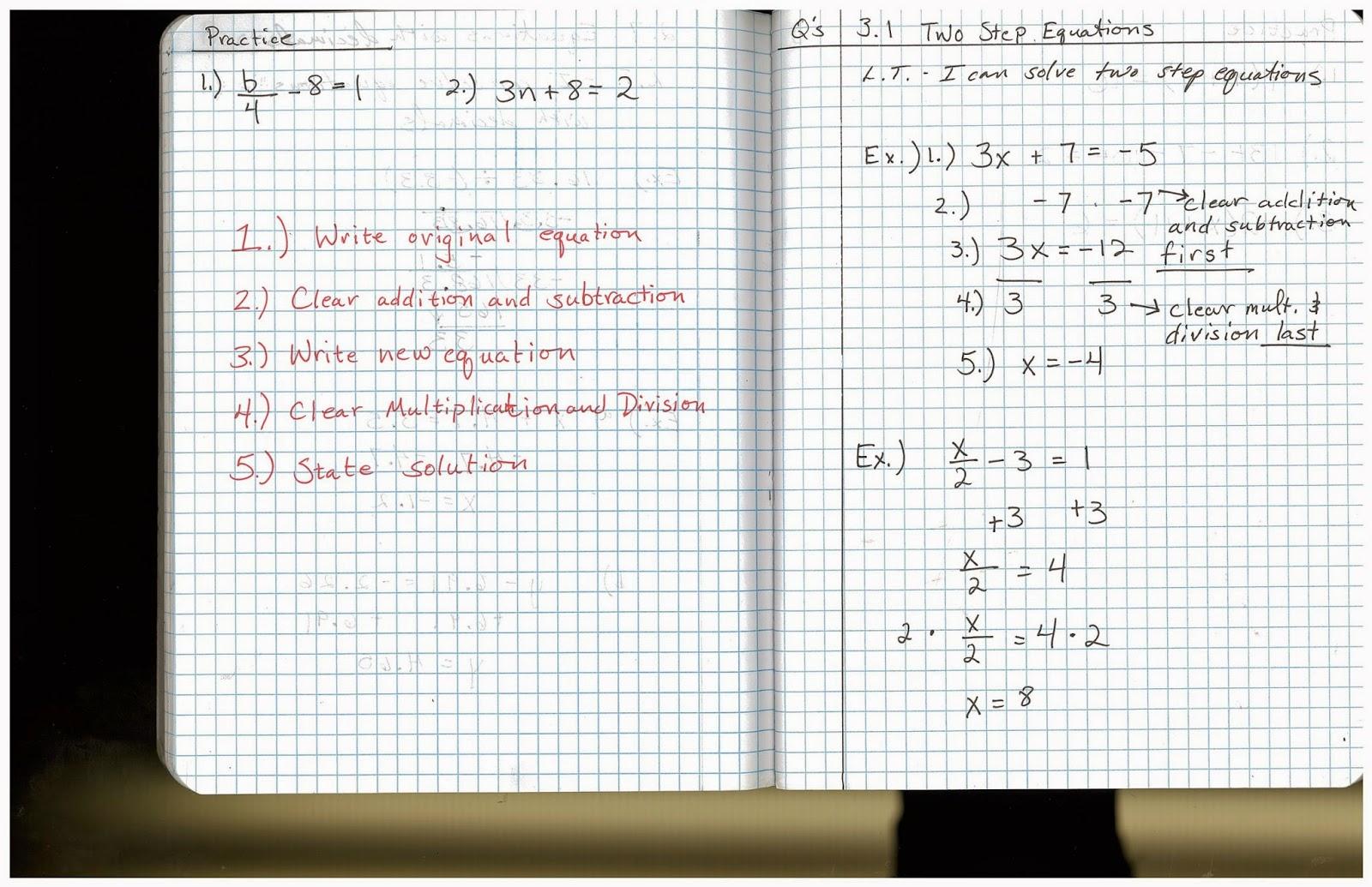 Heidemann 8th Grade Math 7th Period Pre Algebra