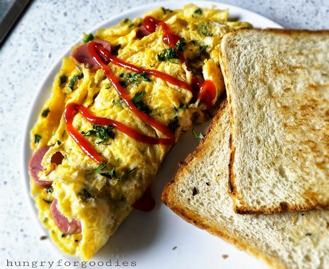 Hot Dog Omelette Recipe