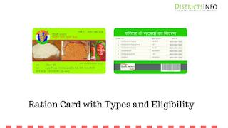 Ration Card with Types and Eligibility