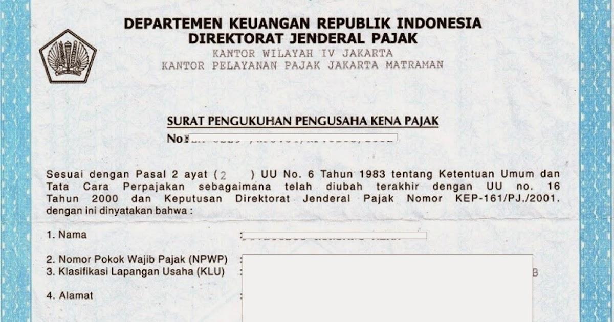 Tentrem Konsultan Surat Pengukuhan Pengusaha Kena Pajak