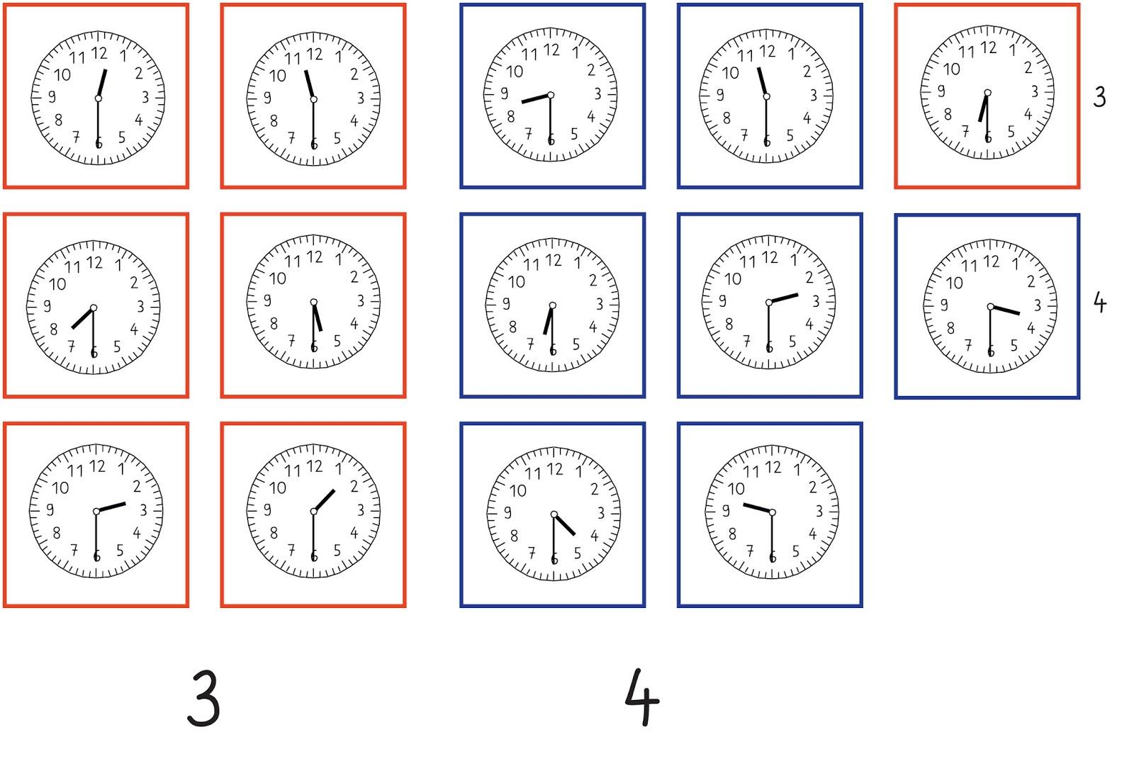 Arbeitsblatt Uhrzeit Volle Und Halbe Stunden : Lernstübchen zeitspannen legekarten