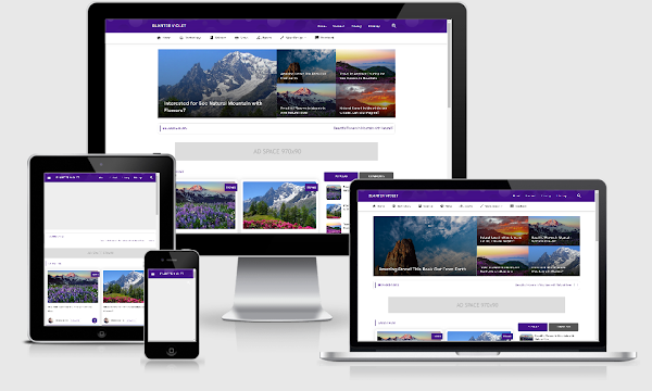Blanter Violet Premium Responsive Fast Load Blogger Template