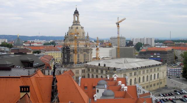 Vista da torre do Burghof (castelo de Dresden)