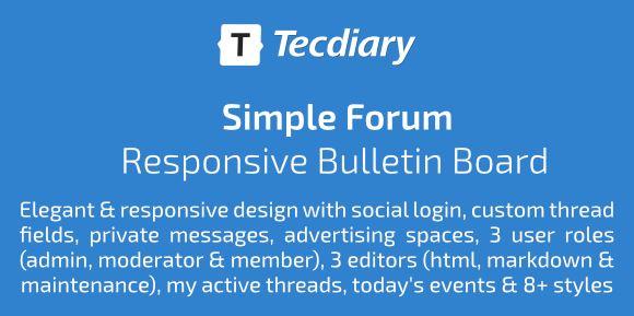 Simple Forum - Responsive Bulletin Board | PHP Script