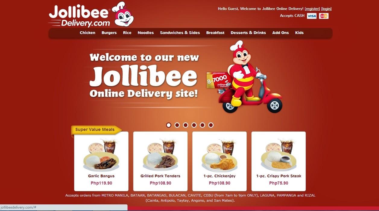 how to order jollibee online