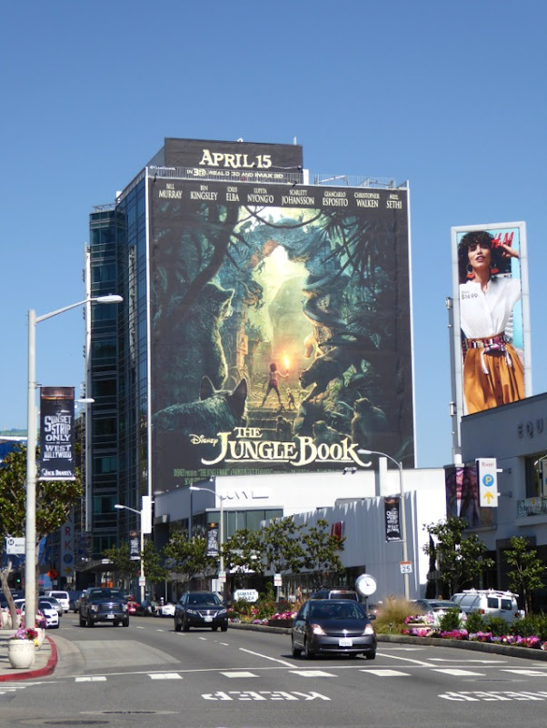 Giant Disney Jungle Book film billboard