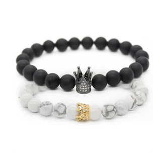 Crown  Lovers Distance Bracelets