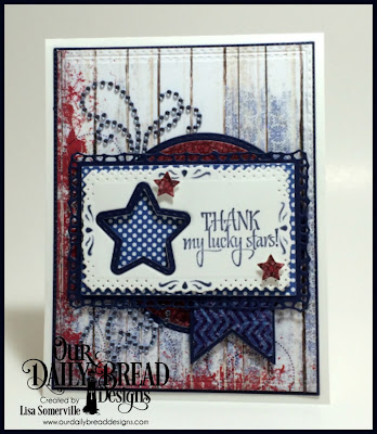 Our Daily Bread Designs Stamp Set: Superstar, Our Daily Bread Designs Custom Dies: Filigree Frames, Flourished Star Pattern, Lavish Layers, Rectangles, Double Stitched Rectangles, Pennants, Sparkling Stars, Double Stitched Stars, Circles, Double Stitched Circles, Our Daily Bread Designs Paper Collections: Old Glory, Patriotic