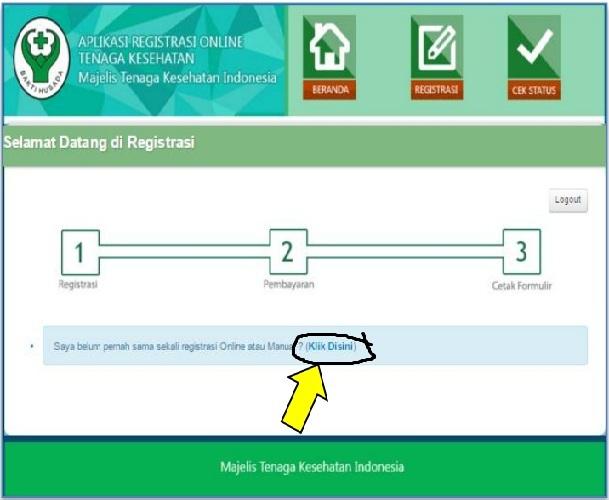 Pembuatan Surat Asterik Registrasi Via Online