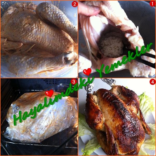 firinda Tavuk Dolması nasıl yapilir,resimli yemek tarifleri, iç pilav nasıl yapilir