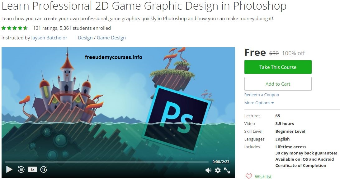 100% Free #Udemy Course] Learn Professional 2D Game Graphic #Design