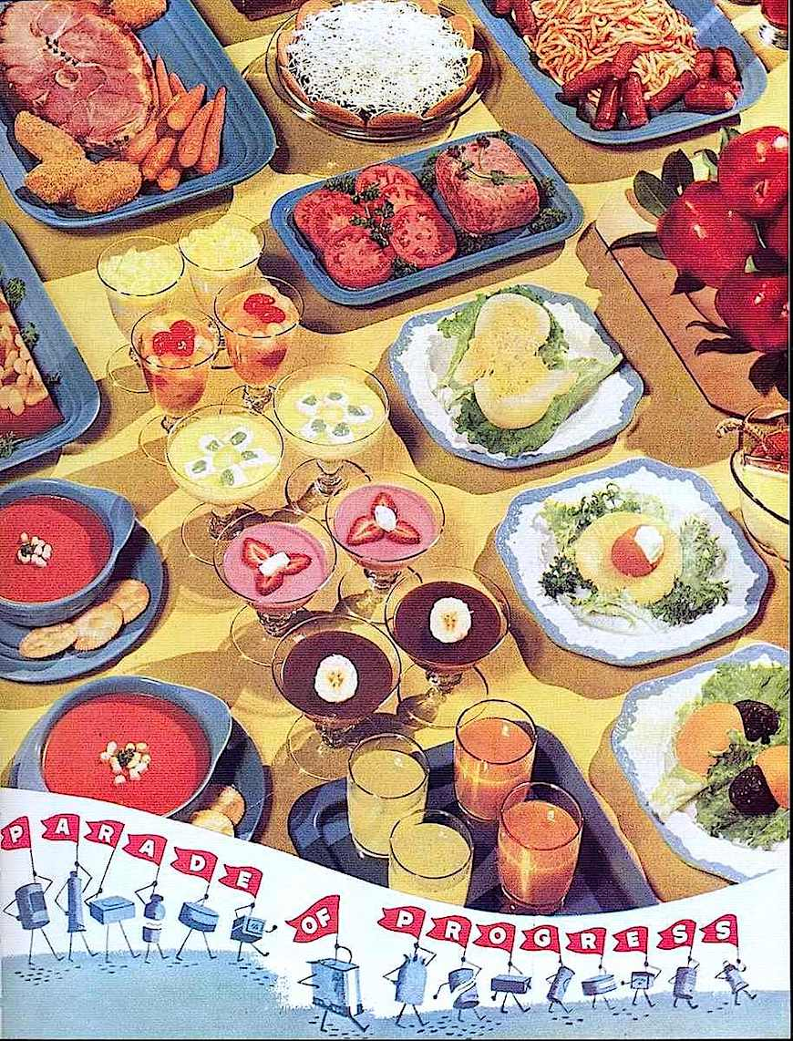 a 1930s food photo for a magazine advertisement